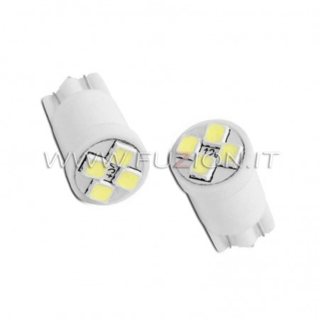 LAMPADE T10 W5W 4 LED SMD FUZION