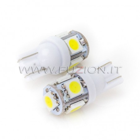 LAMPADE T10 W5W 5 LED SMD FUZION