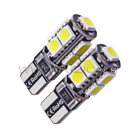 LAMPADE T10 W5W 9 LED CANBUS FUZION