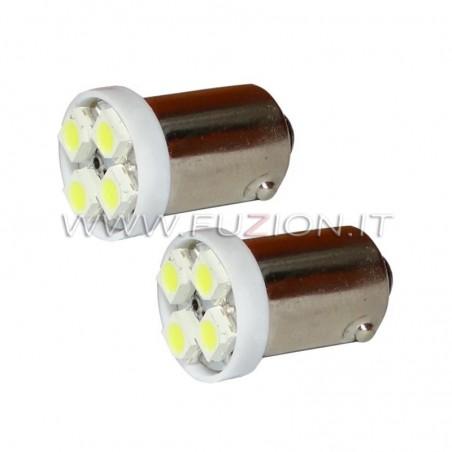 LAMPADE BA9S H5W 4 LED SMD FUZION