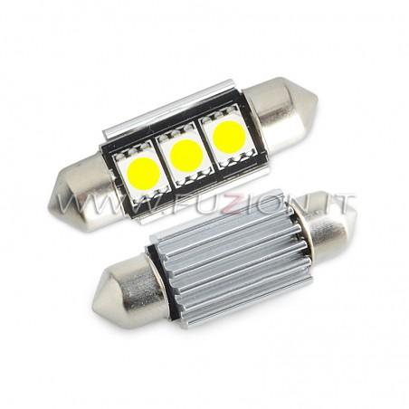 LAMPADE  SILURO C5W C10W 3 LED CANBUS FUZION