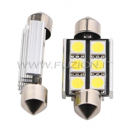 LAMPADE  SILURO C5W C10W 6 LED CANBUS FUZION
