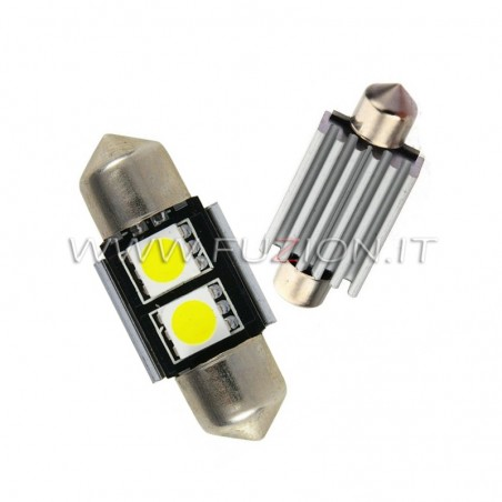 LAMPADE  SILURO 31MM C5W C10W 2 LED CANBUS FUZION
