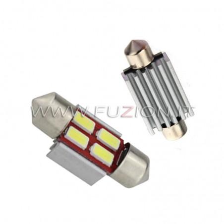 LAMPADE  SILURO 31MM C5W C10W 4 LED CANBUS FUZION