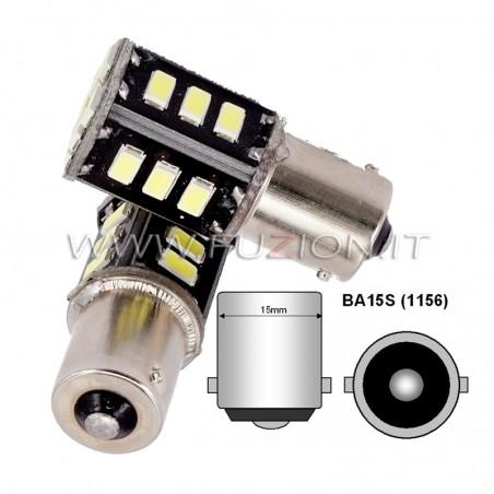 LAMPADE P21W BA15S 1156 18 LED CANBUS BIANCO, ROSSO, ARANCIO FUZION