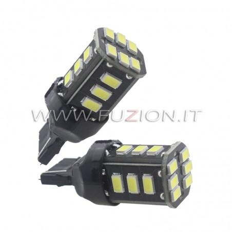 LAMPADE T20 7440 W21W 18 LED CANBUS BIANCO, ROSSO, ARANCIO FUZION