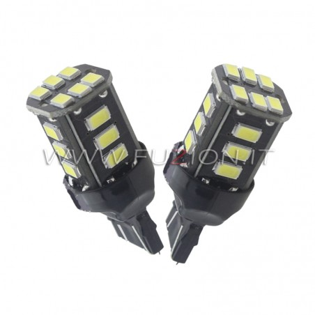 LAMPADE T20 7443 W21/5W 18 LED CANBUS FUZION