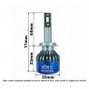 H16 5202 KIT LED MATRIX 50W CANBUS PRO FUZION